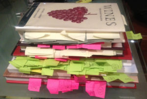 Post-it Notes from research of Physical Books Upside Down